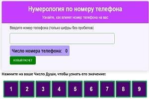 Онлайн расчет в нумерологии по дате рождения - рассчитать Число Судьбы